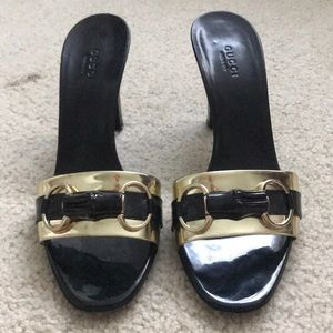 3 1/2 inch authentic classic Gucci high heels.